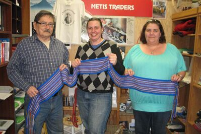 (Left to right) Métis Culture and Heritage Resource Centre genealogist Randy Ranville, assistant genealogist Holly Marchuk and practicum student Jacquie Sicotte. The Métis Resource Centre is in danger of shutting down due to lack of funds.