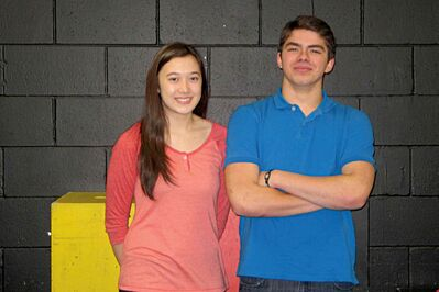 Mia Bernasconi and Kamal Chioua play Gabriella Montez and Troy Bolton respectively, the two leads in Garden City Collegiate's production of High School Musical.