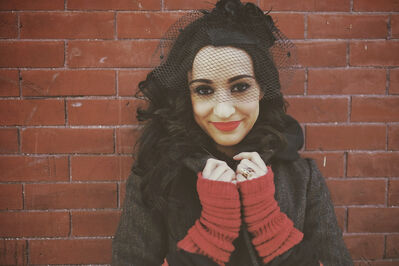 Singer/songwriter Lindi Ortega after being interviewed at the Winnipeg Free Press News Cafe on February 6th, 2014.
