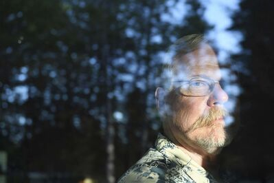 PHOTOS BY MATT MCLAIN / THE WASHINGTON POST</p><p>Don Bradway, shown at his home in Hayden, Idaho, moved from California five years ago to join the American Redoubt, among the most motivated of a broader survivalist movement that advocates preparedness and self-reliance.</p>