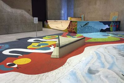 SUPPLIED</p><p>Skateboarding setup in the lobby of the Winnipeg Art Gallery.</p>