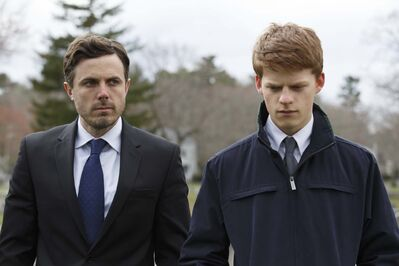 CLAIRE FOLGER / ROADSIDE ATTRACTIONS / AMAZON STUDIOS</p><p>Casey Affleck (left) plays a weary Lee Chandler forced to support his nephew, played by Lucas Hedges, in Manchester By the Sea.</p></p>