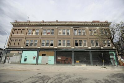 A police spokesman said they&rsquo;re still investigating the fire that threatened Merchants Corner, a $15-million construction and revitalization project.</p>