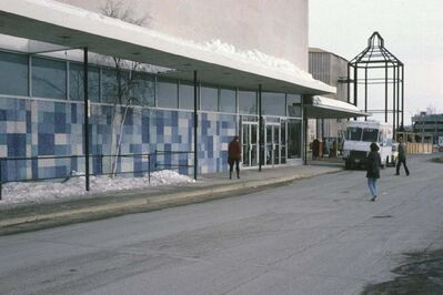 University of Manitoba Winnipeg Building Index </p><p>The 45-metre mosaic that graced the Portage Avenue façade of the Polo Park Sears store was created by University of Manitoba art professor George Swinton. It was demolished as part of renovations in the early 2000s.</p>