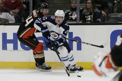 Unlike Nikolaj Ehlers, how many forwards right now can say they are playing at a high level? The answer is, none. (Alex Gallardo / The Associated Press)</p>