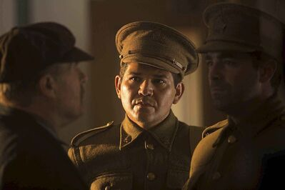 Actor Gabriel Daniels says Second World War hero Tommy Prince inspired the role of a First World War Métis veteran in the movie Stand!. (submitted)