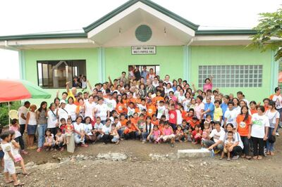 Larry and Tova Vickar and 10 other members of the Transcona Rotary Club travelled to the Philippines for the dedication of the Vickar Transcona Rotary Port View Village, a new community that the club built for people living on Camiguin Island.