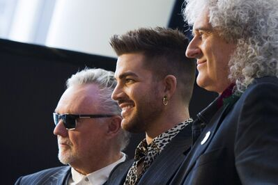 From left, Roger Taylor, Adam Lambert and Brian May will be at the MTS Centre on June 21.