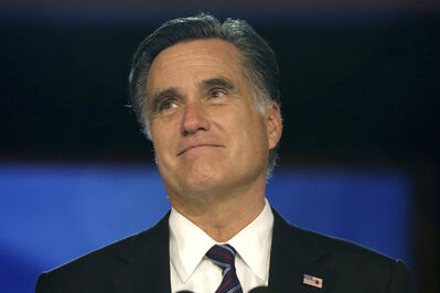 Republican presidential candidate and former Massachusetts Gov. Mitt Romney.