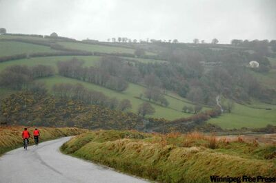 Remote Exmoor is wetter and milder than the rest of England. There 20,000 kilometres of official bike paths around the country.