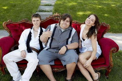 Brooke Pallson, right, with Less Than Kind co-stars Tyler Johnston, left, and Jesse Camacho. Pallson is up for two 2014 ACTRA Manitoba Awards.