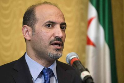 President of the Syrian Coalition Ahmad al-Jarba