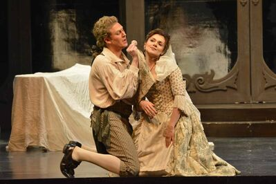 Figaro (Gordon Bintner) and his Fiancée Susanna (Andriana Chuchman).