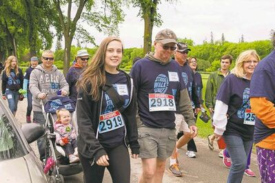 Some of the approximately 700 participants in the 2014 Walk to Fight Arthritis are shown. Organizers are hoping for more at this year's walk on Sun., June 7 at Winnipeg's Assiniboine Park.