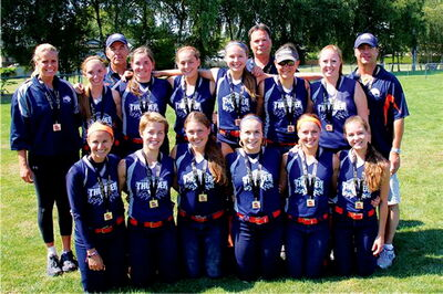 The Manitoba Thunder Under-18 softball team won gold at the Western Canadian championships in Richmond, B.C. from Aug. 8 to 11.