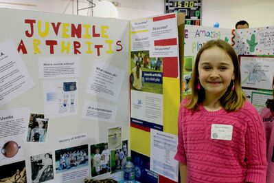 Naomi Hudson was diagnosed with juvenile arthritis when she was two-and-a-half years old. This year, for her science project in the St. James-Assiniboia School Division science fair, she wanted to educate people about the condition.