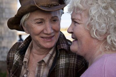 "Olympia Dukakis stars as Stella (left) and Brenda Fricker stars as Dot (right) in the film ""Cloudburst."" THE CANADIAN PRESS/HO- eMotion Pictures"