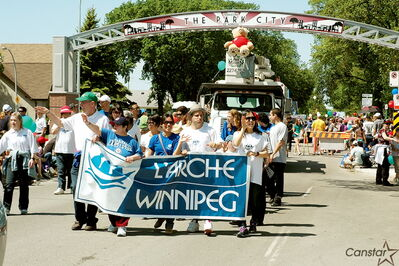 L'Arche Winnipeg participated in the 2012 Hi Neighbour Festival parade, which this year helped celebrate Transcona's centennial.