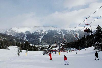 The Copper Mountain, located about 120 kilometres west of Denver.
