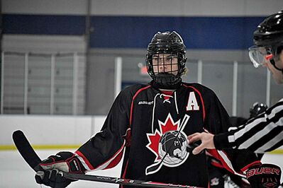 Hayden Ostir is a 14-year-old Winnipegger attending the Pursuit of Excellence Hockey Academy in Kelowna, B.C.