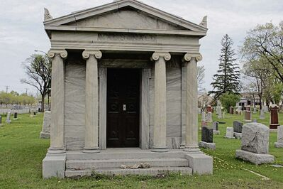 The MacDonald mausoleum at Kildonan Cemetery. The cemetery is one of many historic sites that will be part of Doors Open Winnipeg on May 30 and 31.