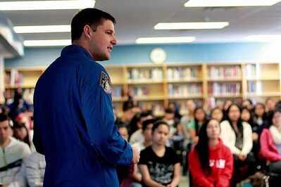 Canadian Space Agency astronaut Jeremy Hansen visited Sisler High School on Thurs., Feb. 27.