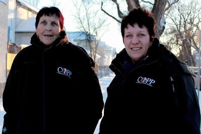 Levett Demchuk (left) and Annette Champion-Taylor of the William Whyte Residents Association hit the streets as part of the Citizens on Patrol Program.