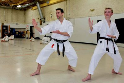Eugene Vincent (left) and Connor Marschall pictured in the zone at Southdale Community Centre recently.