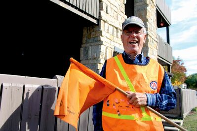 Ross Smithson has been a school crossing guard for 20 years, touching the lives of many students and staff members. He said he'll miss the smiling faces of the little kids most of all.