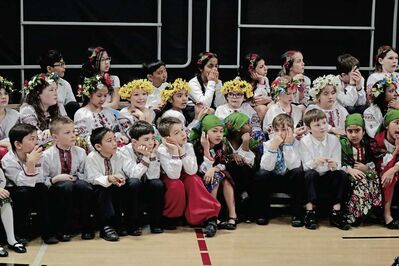 Immaculate Heart of Mary students at the school's Ukrainian Week concer on Mar. 23, 2017.
