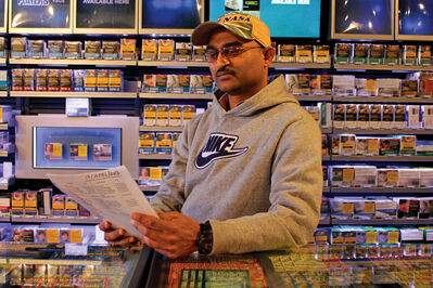 Peter Patel, owner of Up In Smoke Tobacconist on Leila Avenue and Henderson Highway, says he's gotten into arguments with customers over the recent increases in cigarette prices due to taxes.