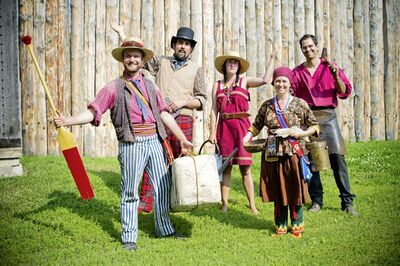 These interpreters are ready to welcome visitors to Fort Gibraltar this summer.