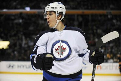 Jets rookie Mark Scheifele scored twice for the Jets against the Sabres.