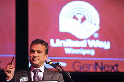 United Way's Jeff Zabudsky at the second annual Red October reception.