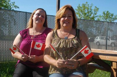Canada Day Family Fun Day organizers Nicole Fanshaw and Nicole Napoleone hope the event is a success.