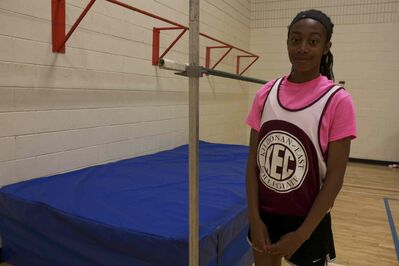 Kildonan-East Collegiate high-jumper Paige Morris earned provincial gold in the event earlier this month.