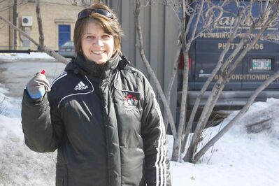 Soccer official Lisa Sansregret was honoured as the Manitoba Soccer Association's outstanding official.