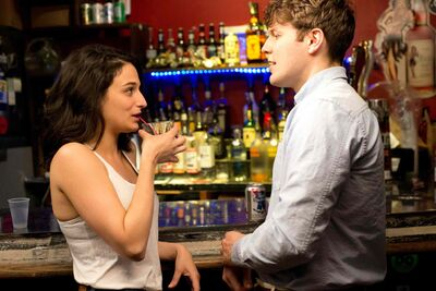 Getting to know you: Jenny Slate and one-night-stand-but-doesn�t-know-it Jake Lacey in Obvious Child.