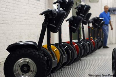 Two-wheeled Segway motorized scooters are banned in many cities, including Winnipeg.