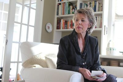 Susan Griffiths in her Winnipeg home in April before leaving for Switzerland to end her life.