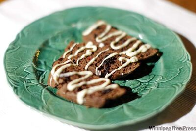 Josephine Wasney's sophisticated chocolate and cranberry biscotti.