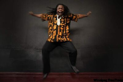 Casimiro Nhussi, instructor and artistic director, performs at the NAfro Dance Centre.