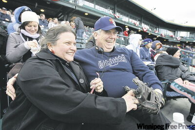 Goldeyes season ticket holders Angie and Jim Busby are happy to be in the ballpark for another season's worth of action.