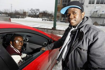 Brothers, Tresor Chimusa Namwira, 21, and Daniel Nechi Namwira, 19, moved to Winnipeg from the Democratic Republic of Congo last January. With the help of their uncle, they are now learning how to drive.