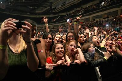 The crowd enjoys Pitbull Saturday at the MTS Centre.