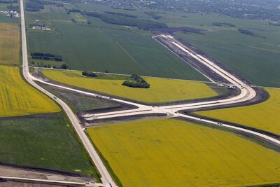 The $212-million highway for CentrePort has forced the province to expropriate a total of 31 parcels of land, and the cash for settlements is looking like it will fall short.