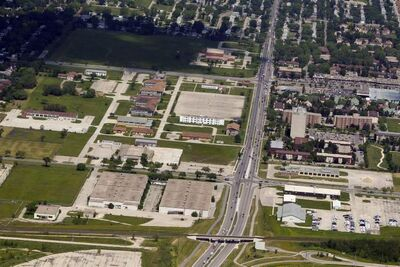 The former Kapyong Barracks as seen from the air in July 2012.