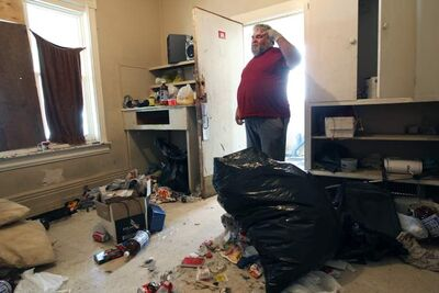 A tenant named Chris prepares to move out of the house, which he has lived in for free while doing repair jobs for the past several months.