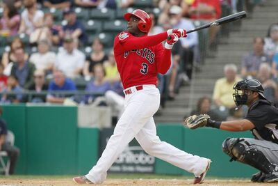 Yurendell de Caster during his first stint with the Goldeyes in 2012.