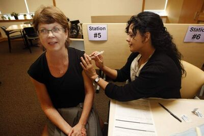 The government is urging Manitobans to get the flu shot. It said it has an adequate supply of flu season vaccines.